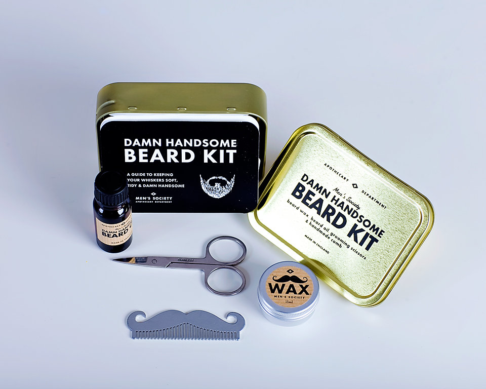 damn handsome beard kit by men 39 s society in the box gifts. Black Bedroom Furniture Sets. Home Design Ideas