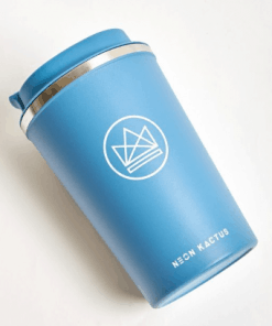 blue-Neon-Kactus-Reusable-Coffee-Cup-In-the-box-gifts