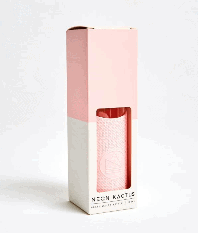 pink-Neon-Kactus-glass-water-bottle-In-the-box-gifts-002