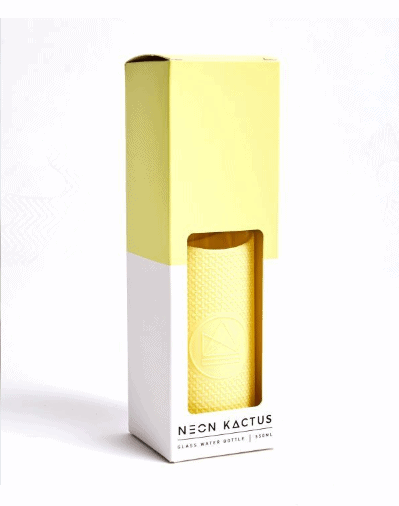 yellow-Neon-Kactus-glass-water-bottle-In-the-box-gifts-002